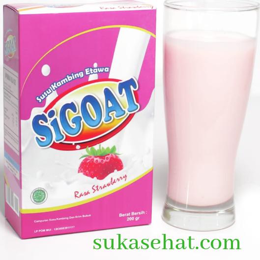 Susu kambing stroberry, enak dan gurih