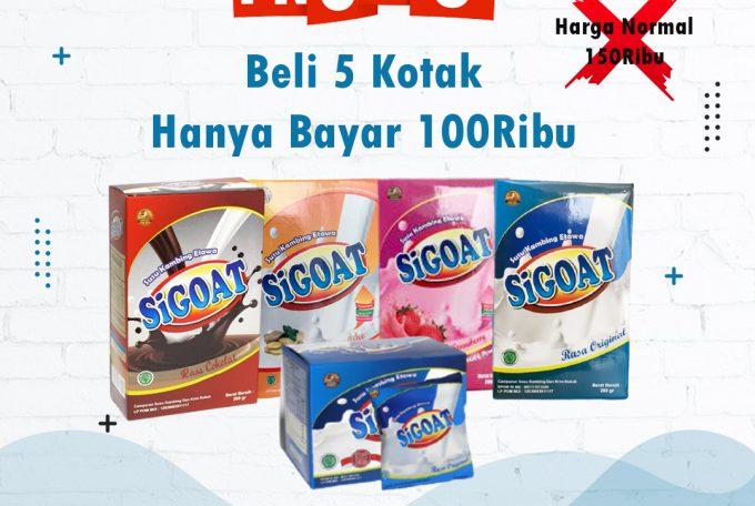 Promo Susu Kambing Etawa SiGoat, 5 Kotak Hanya 100Ribu